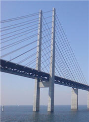 A side view of the Oresund Bridge
