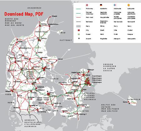 丹麦的地图