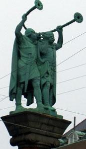 Two trumpeter Vikings, Copenhagen Denmark