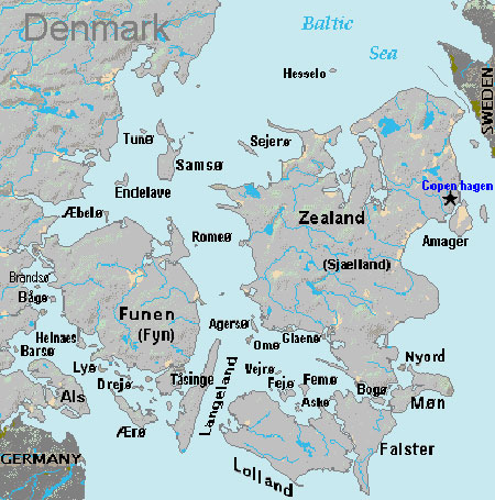 List of Islands of Denmark - Map of Denmark