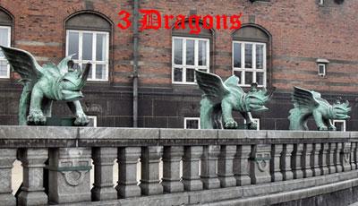 3 Dragons, Copenhagen`s Town Hall