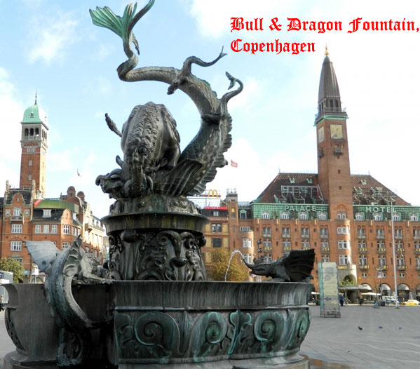 Bull and Dragon fountain, Copenhagen