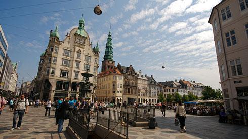 The Stroget Street, Copenhagen, Denmark